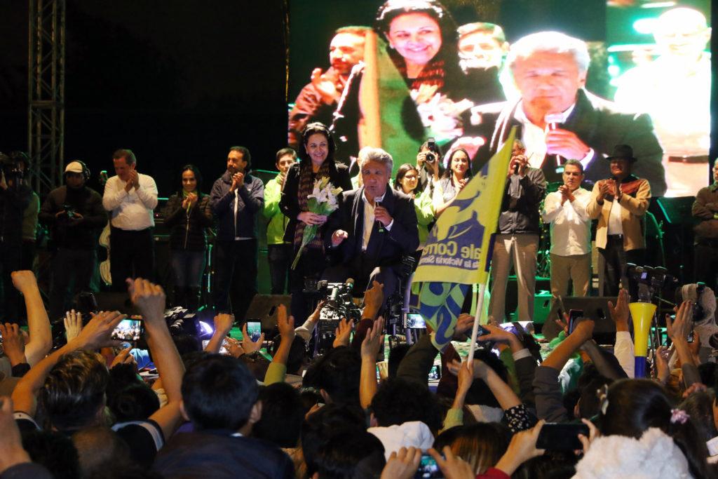 Lenín Moreno se declaró ganador tras conocerse el primer sondeo / Flickr: Agencia de Noticias ANDES