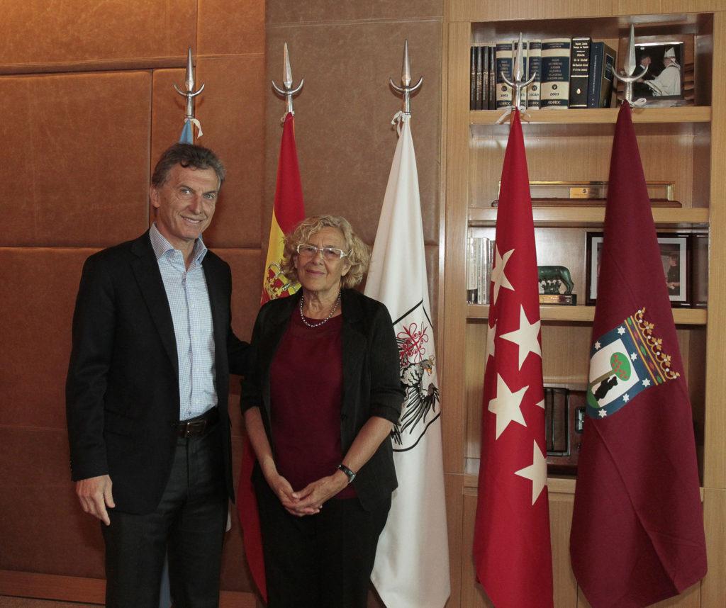 Manuela Carmena se reunió en Buenos Aires con Mauricio Macri, cuando éste aún era alcalde / Flickr: Mauricio Macri