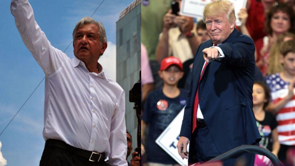 Trump López Obrador