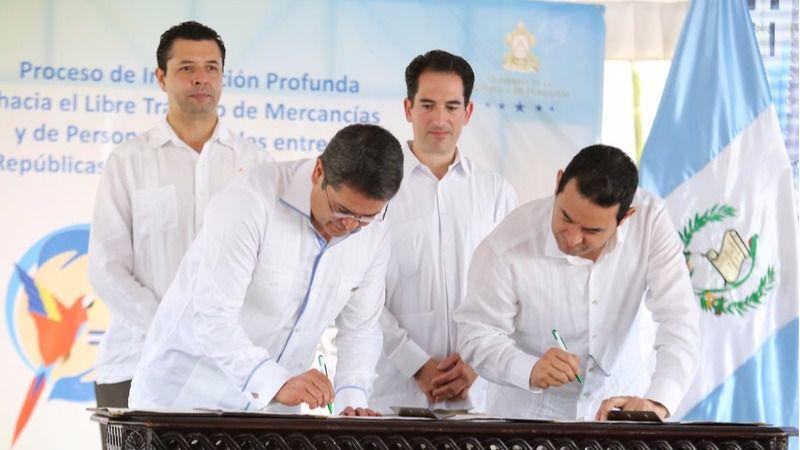 Guatemala y Honduras inician la primera unión aduanera de Centroamérica / Foto: Gobierno de Honduras