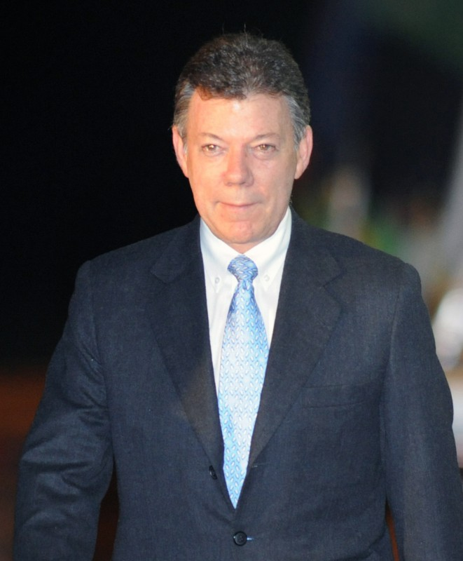 Juan Manuel Santos enfrenta protestas de diversos sectores / Foto: Simple Wikipedia