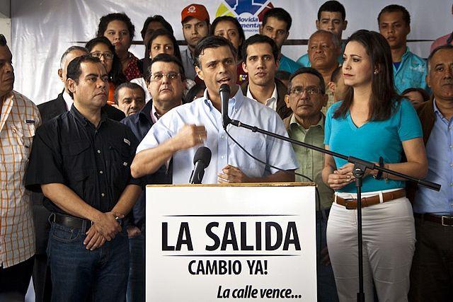 Machado acompañó a Leopoldo López en las protestas de 2014 / Foto: Wikimedia Commons