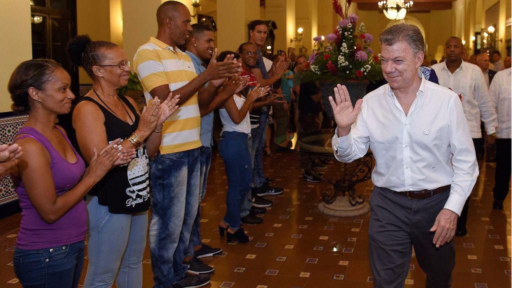 Juan Manuel Santos llegó este domingo a La Habana / Foto: Gobierno de Colombia