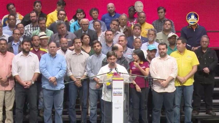 La Mesa de la Unidad Democrática activa la 'hora cero' en Venezuela / Twitter: @unidadvenezuela