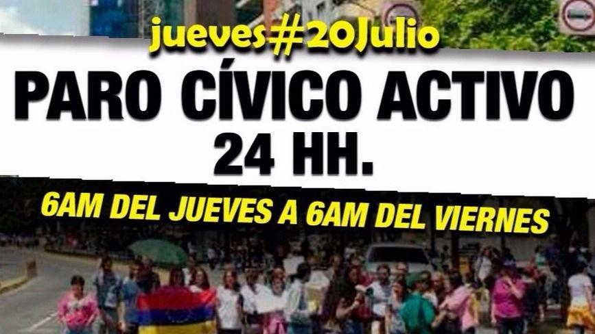 La oposición venezolana convocó una huelga contra la Constituyente de Maduro / Foto: unidadvenezuela.org