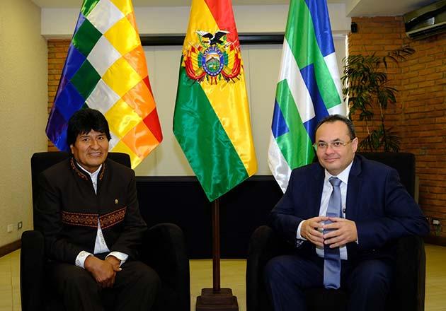 Evo Morales acudió como invitado al último directorio del banco de desarrollo / Foto: CAF