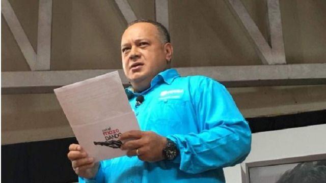 Diosdado Cabello hizo las acusaciones que dieron lugar a la persecución / Foto: Psuv