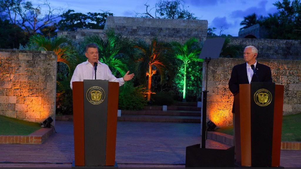 Colombia pidió a EEUU que no contemple una acción militar en Venezuela / Twitter: Juan Manuel Santos