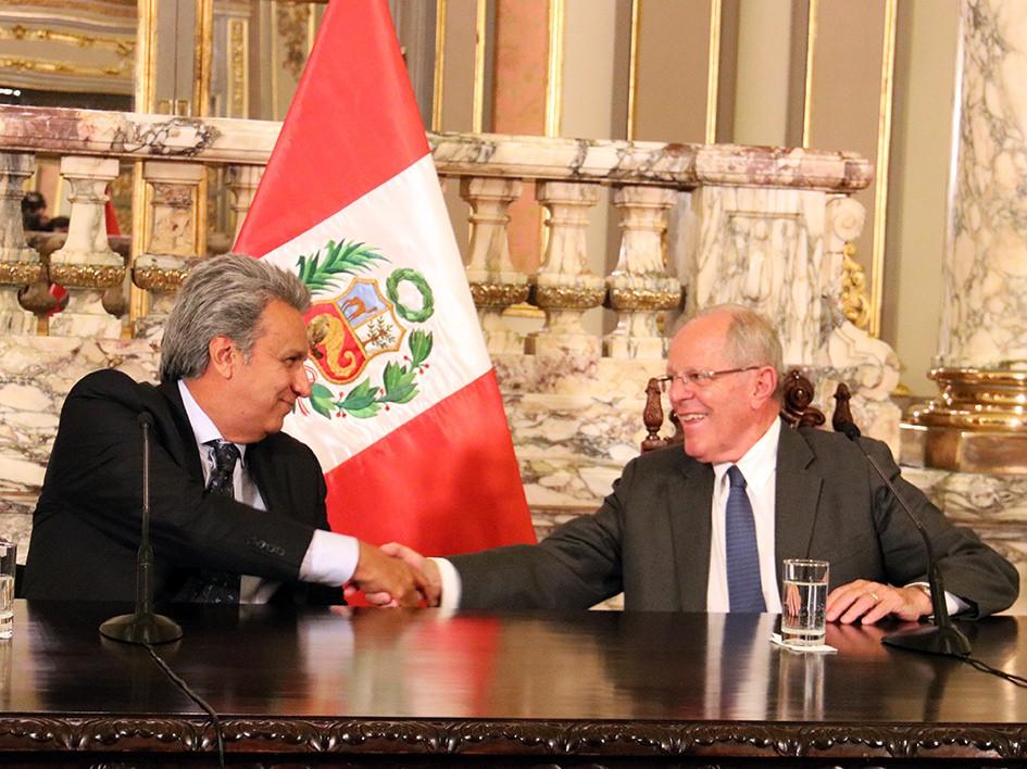 La primera visita de Moreno al exterior como presidente fue a Perú / Flickr: Vamos Lenín