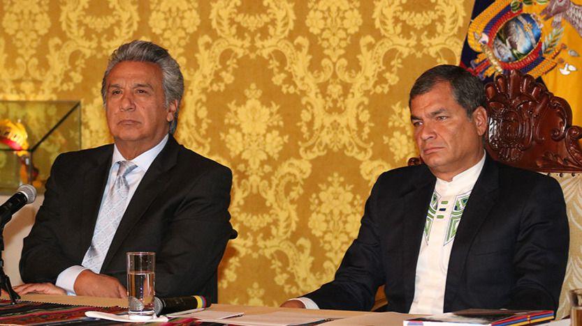 Lenín Moreno y Rafael Correa