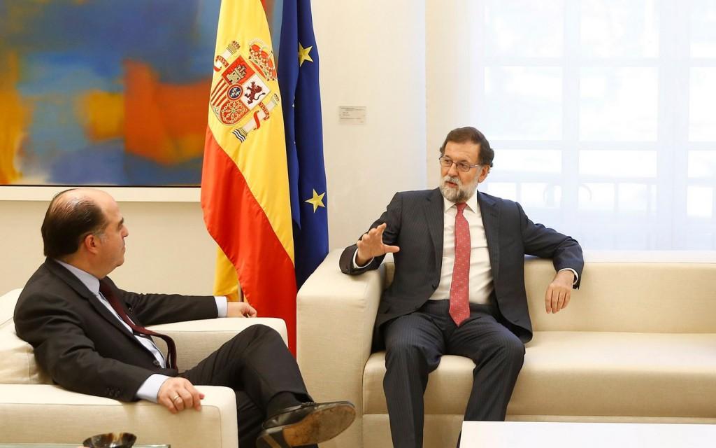 """Rajoy garantizó a Borges que seguirá promoviendo en la UE medidas """"restrictivas"""" en Venezuela / Foto: La Moncloa"""