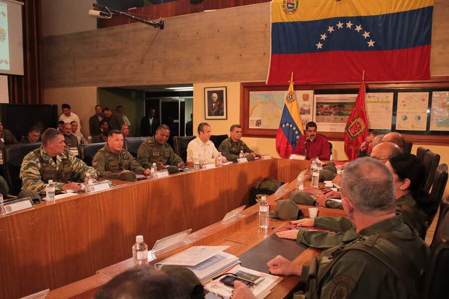 Los altos jefes militares ocupan áreas estratégicas que los hacen claves en todo el entramado / Foto: Presidencia de Venezuela