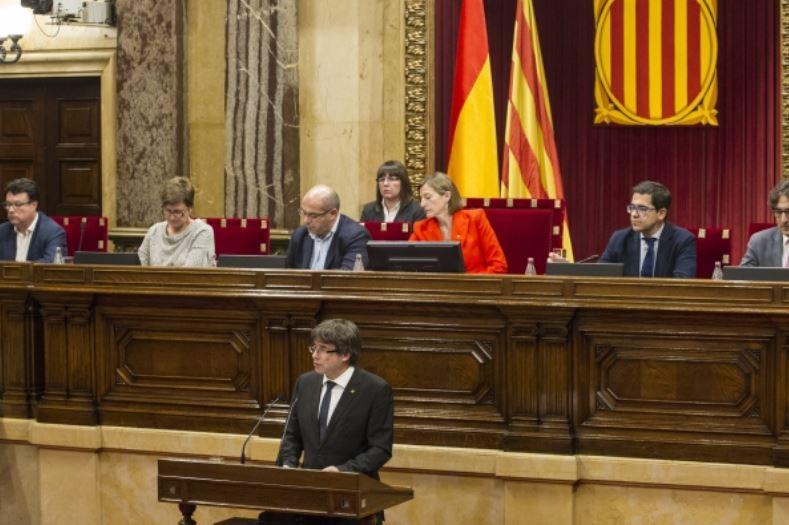 José María Marco analiza algunas claves del discurso de Puigdemont / Foto: Parlamento de Cataluña