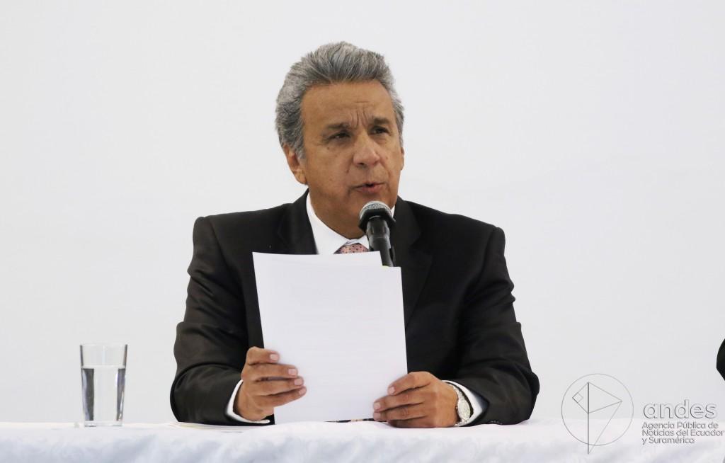Moreno pidió a su equipo legal que analizara la situación de Glas antes de tomar una decisión / Flickr: Agencia ANDES