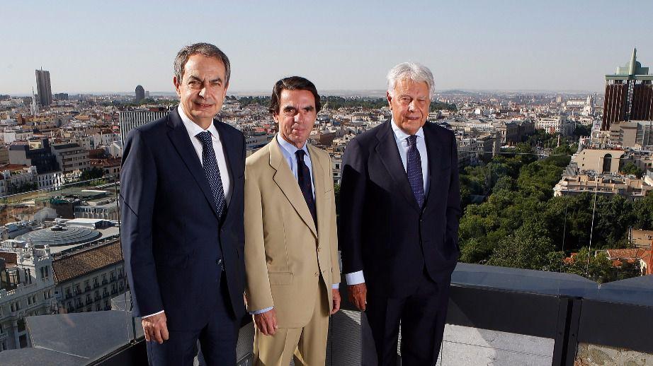 Rodríguez Zapatero, Aznar y González