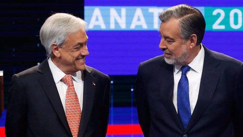 Sebastián Piñera y Alejandro Guillier