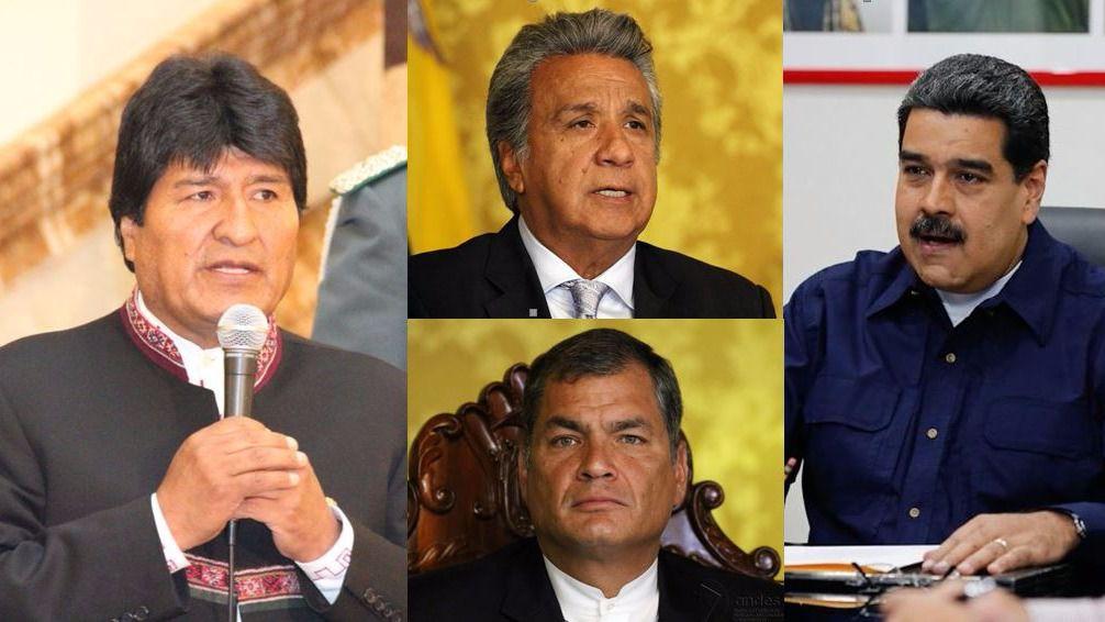 Exterior: Bolivia, Ecuador y Venezuela viven una convulsa actualidad política / Fotos: Agencia Andes, Vicepresidencia Venezuela y Gobierno Bolivia