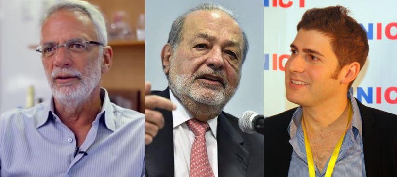 Herrmann Telles, Slim y Saverin forman parte del top 10 de multimillonarios latinoamericanos / Fotos: Fundación Studar, FS y Gravesv38