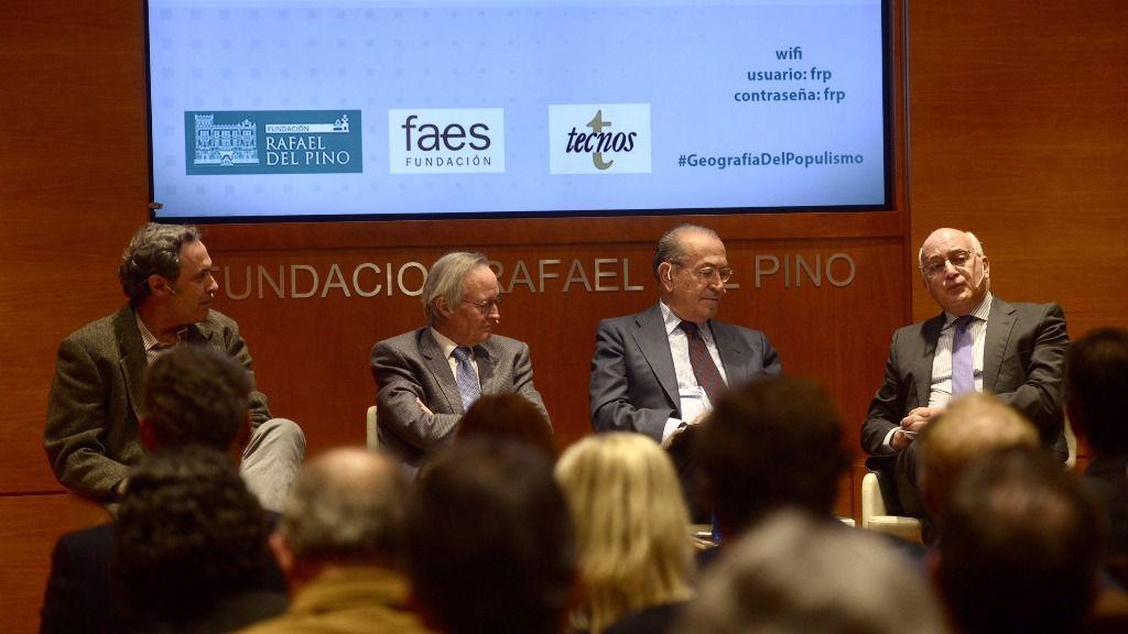 Ángel Rivero, Josep Piqué, Nicolás Redondo Terreros y Javier Zarzalejos
