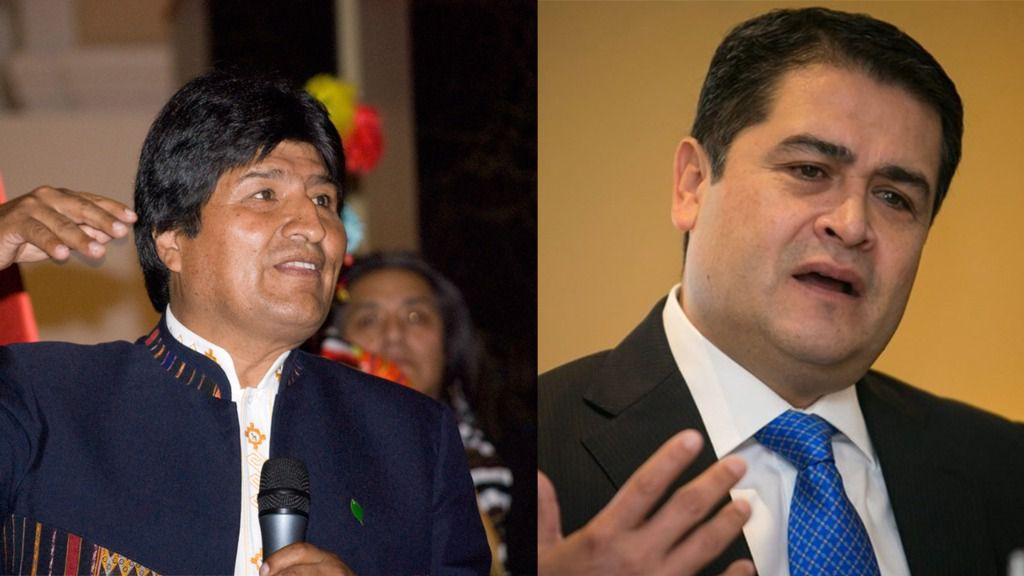 Evo Morales y Juan Orlando Hernández