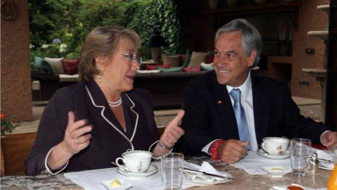 Bachelet y Piñera coordinan cómo será el cambio de mando / Foto: S. Piñera