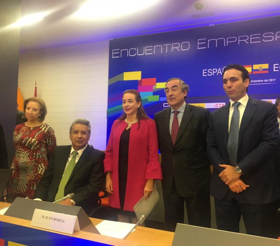El presidente Moreno cerró el acto de los ministros ecuatorianos en el CEOE / Foto: CEOE