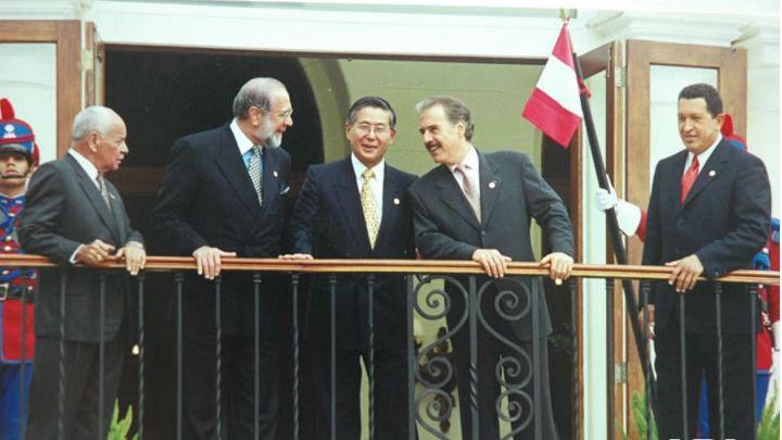Fujimori y Chávez