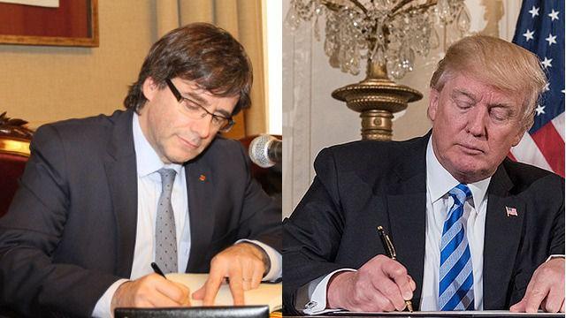 CArles Puigdemont y Donald Trump