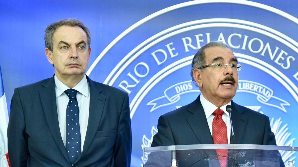 Rodríguez Zapatero y Danilo Medina