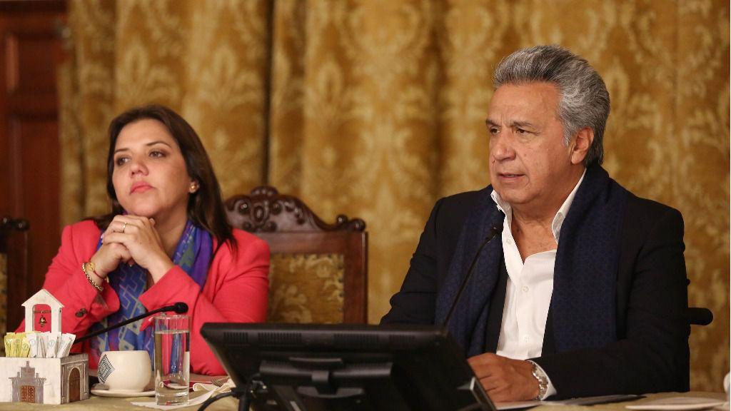 Lenín Moreno y María Alejandra Vicuña