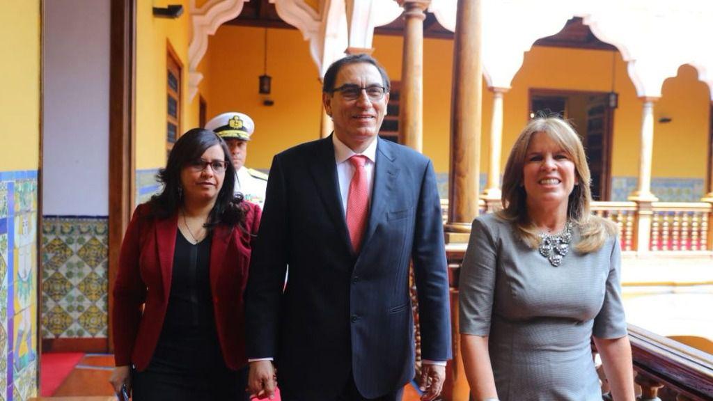 """""""A toda la región le conviene dar un espaldarazo al gobierno de Martín Vizcarra"""", afirma Núñez / Twitter: Presidencia Perú"""
