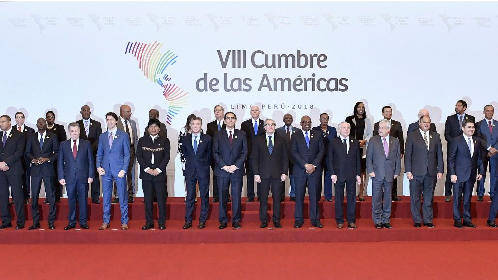 """""""El antes y el después en relación con la corrupción es Odebrecht"""", apunta Núñez / Foto: Cumbre de las Américas"""