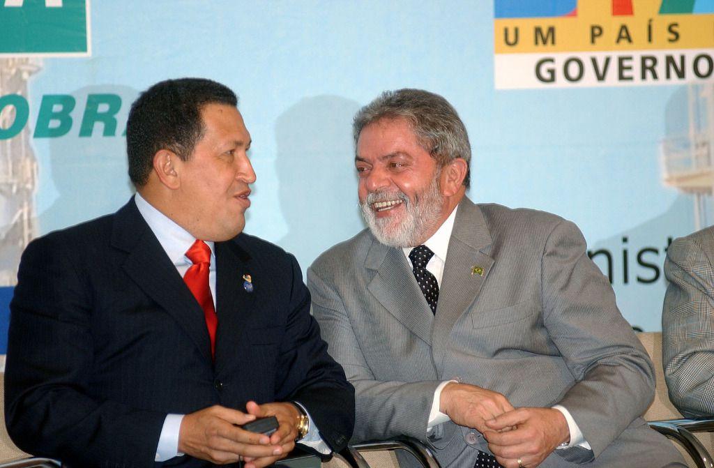 Hugo Chávez y Lula da Silva