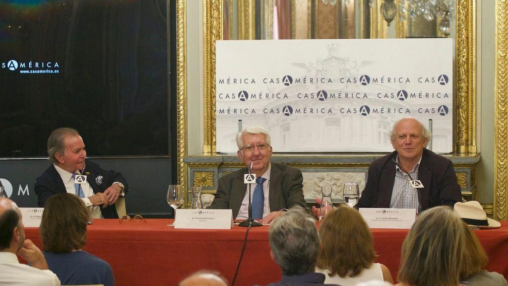 Diego Arria, Fernando Gerbasi y Carlos Malamud