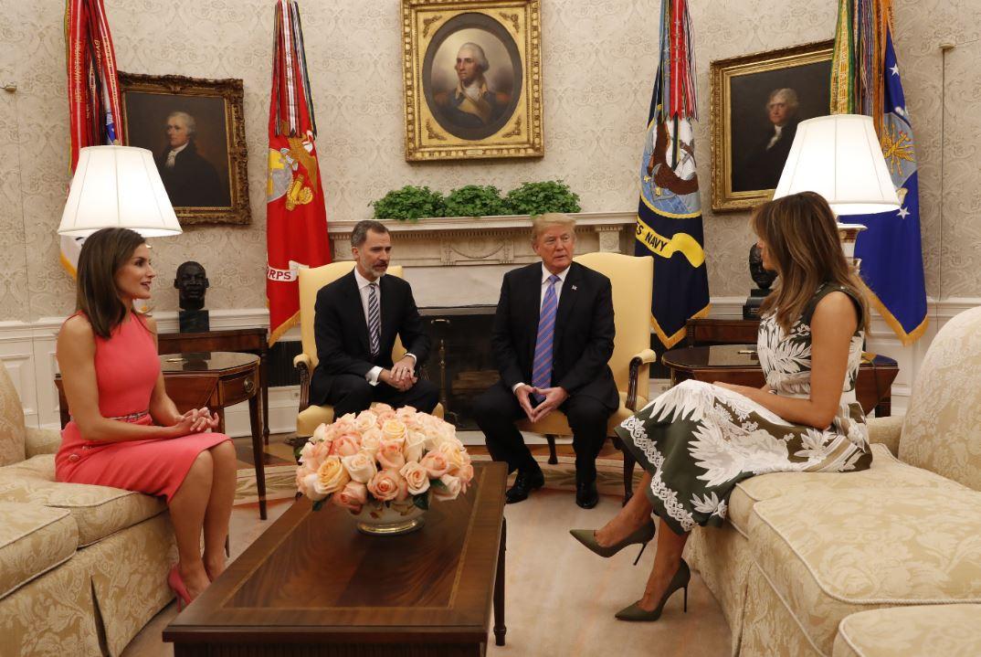 Felipe VI y Donald Trump