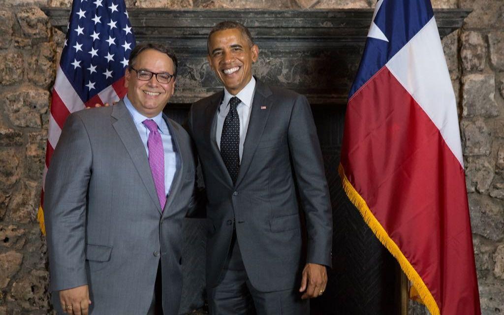 Leopoldo Martínez y Obama