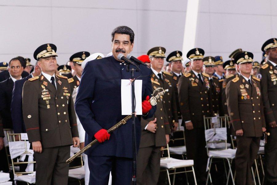 Nicolás Maduro se mostró victorioso entre sus militares / Foto: Prensa Presidencia de Venezuela