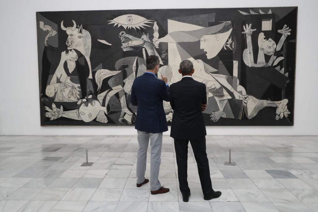 El Rey le regaló a Obama un libro sobre el Guernica de Picasso / Foto: Casa Real