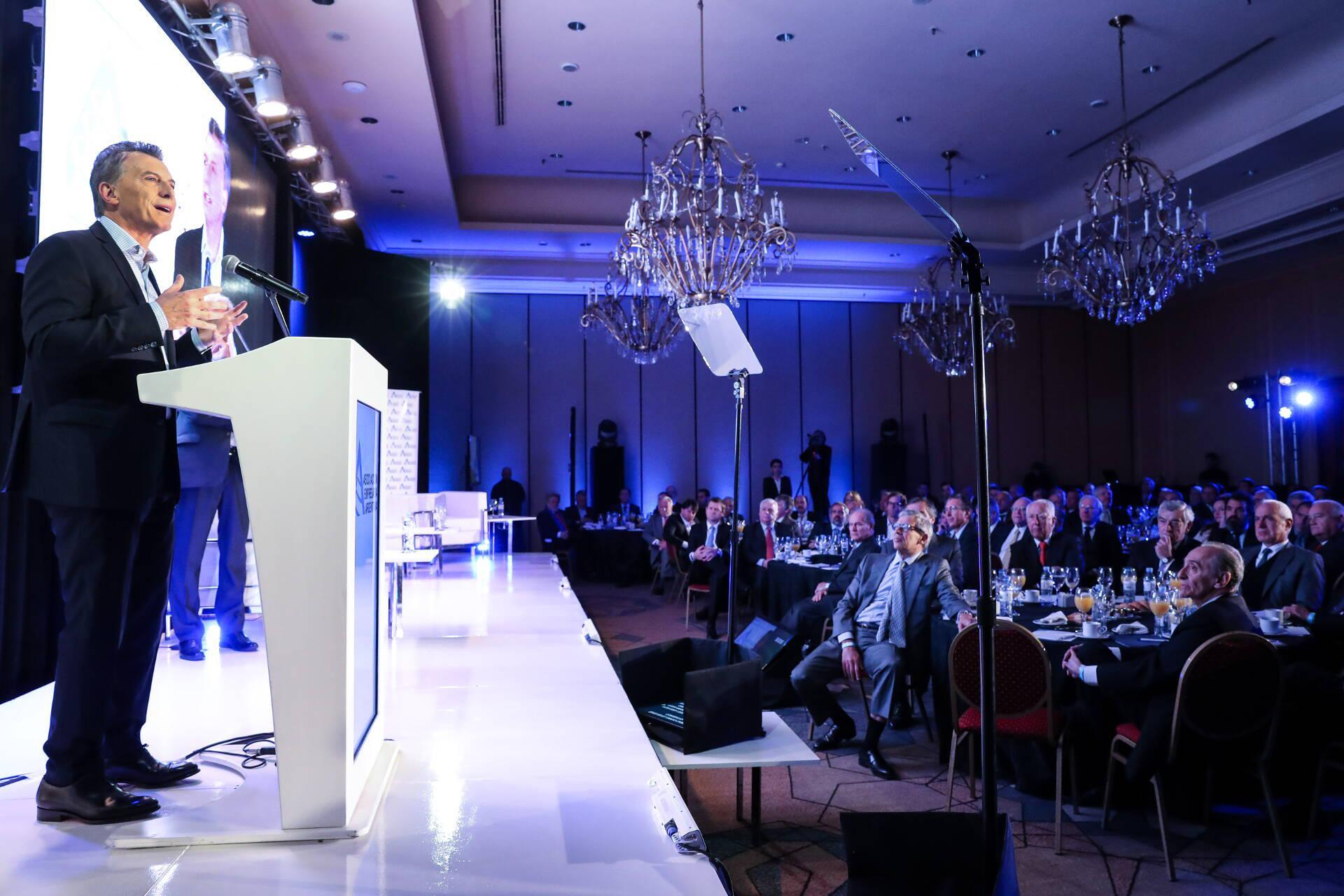 Macri habló frente a los principales empresarios de Argentina / Foto: Casa Rosada