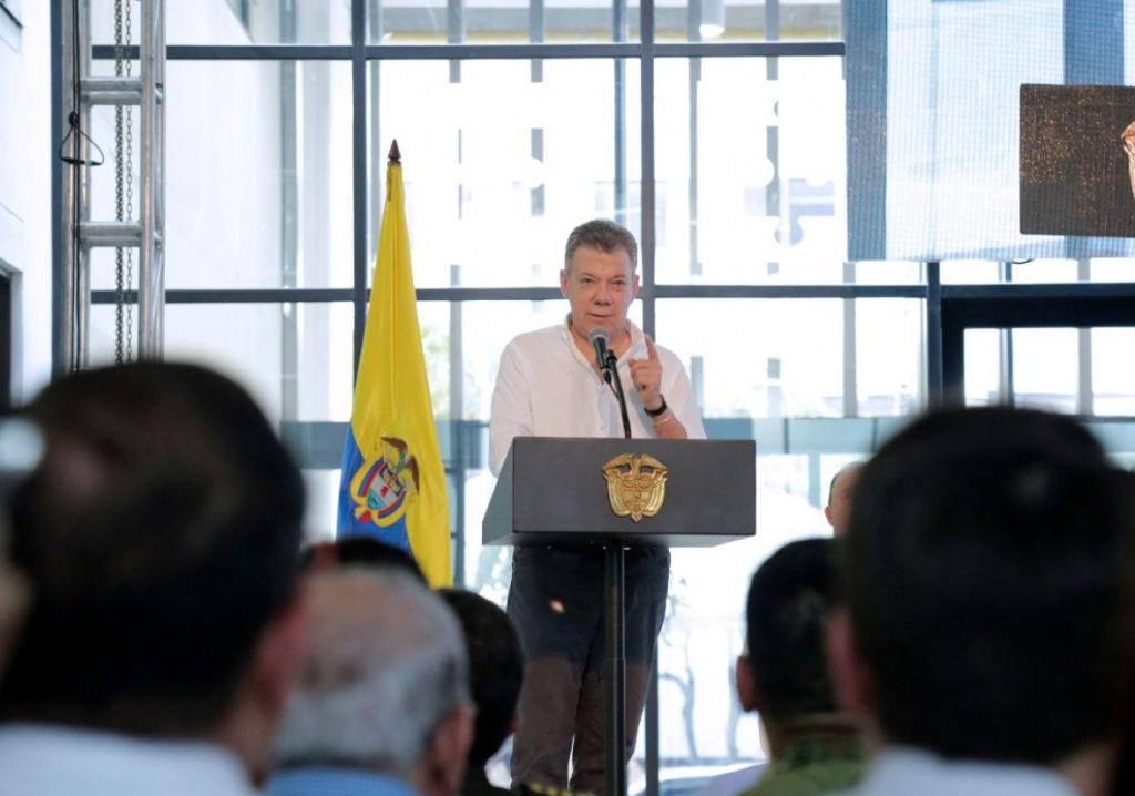 """Maduro: """"El nombre de Juan Manuel Santos está detrás de este atentado"""" / Foto: @JuanManSantos"""