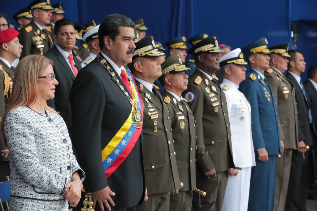 Maduro fue supuestamente atacado mientras celebrado un acto militar / Foto: