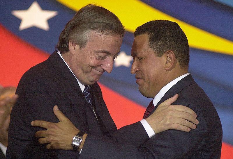 Nestor Kirchner y Hugo Chavez