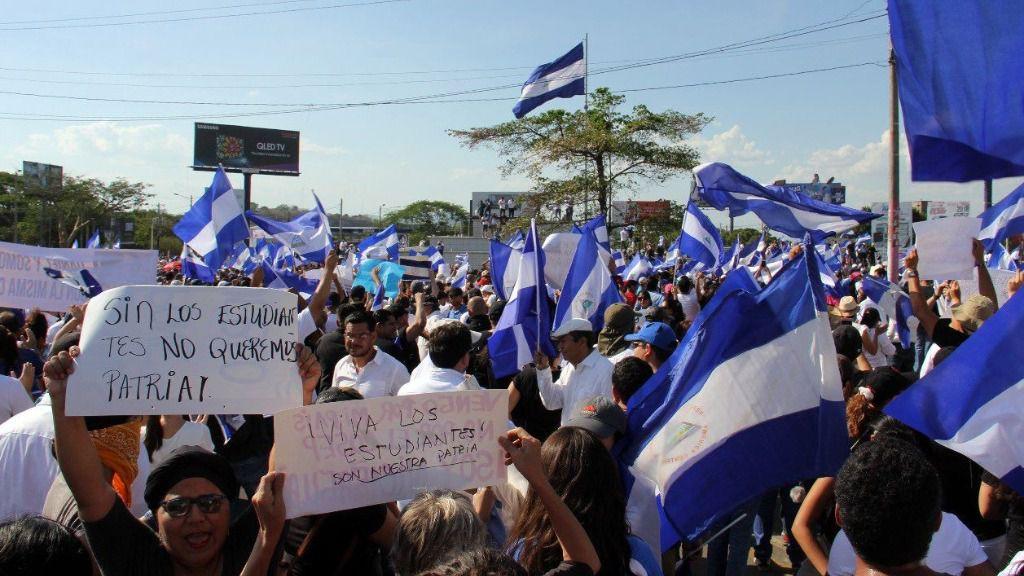 Manifestantes Nicaragua
