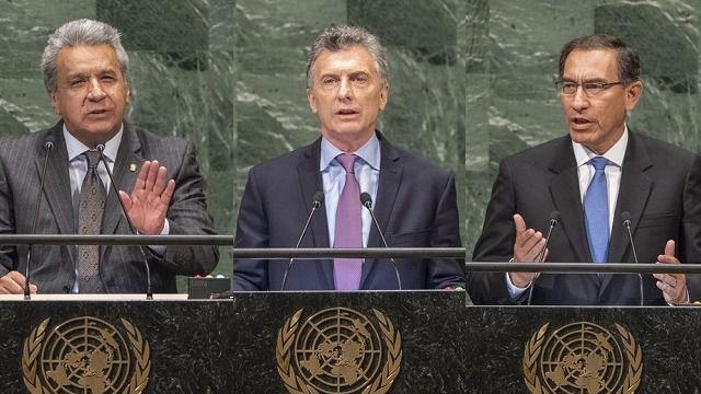Moreno, Macri y Vizcarra