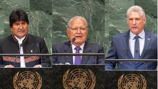 Evo Morales, Díaz-Canel y Sánchez Cerén
