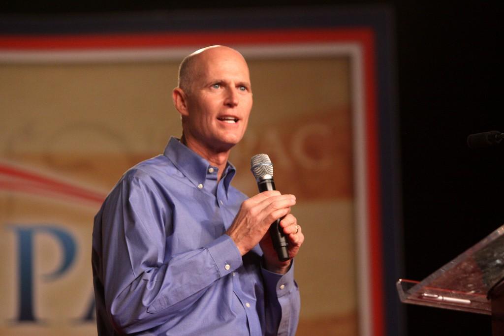 Rubio tejió una alianza estratégica con el gobernador de Florida, Rick Scott / Flickr: Gage Skidmore