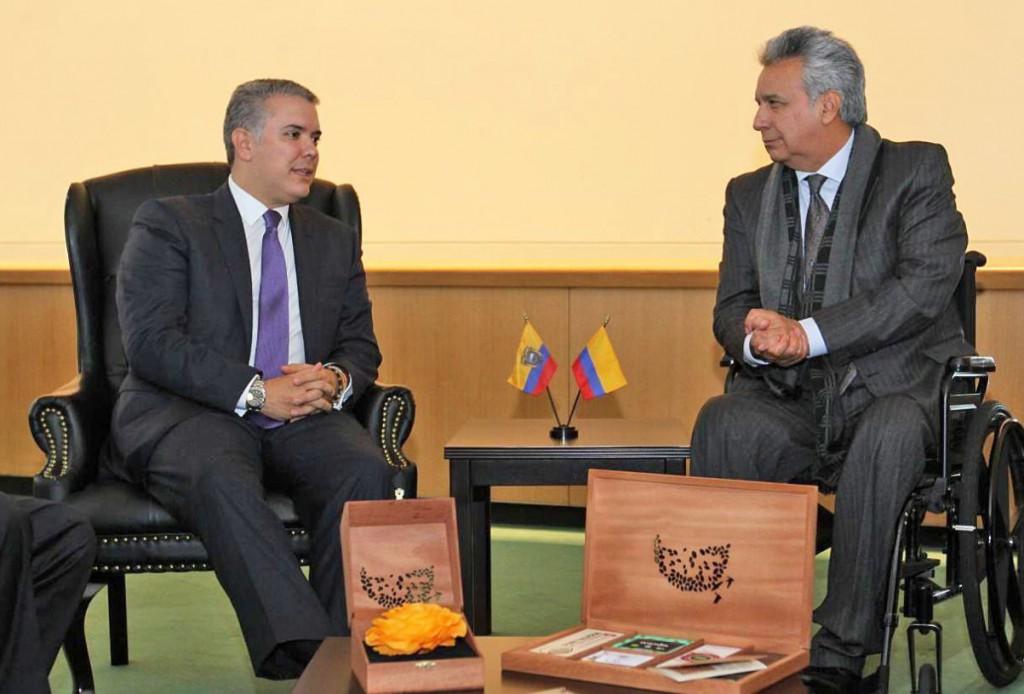 Moreno y Duque se comprometieron con la erradicación de cultivos ilícitos / Foto: @Lenin