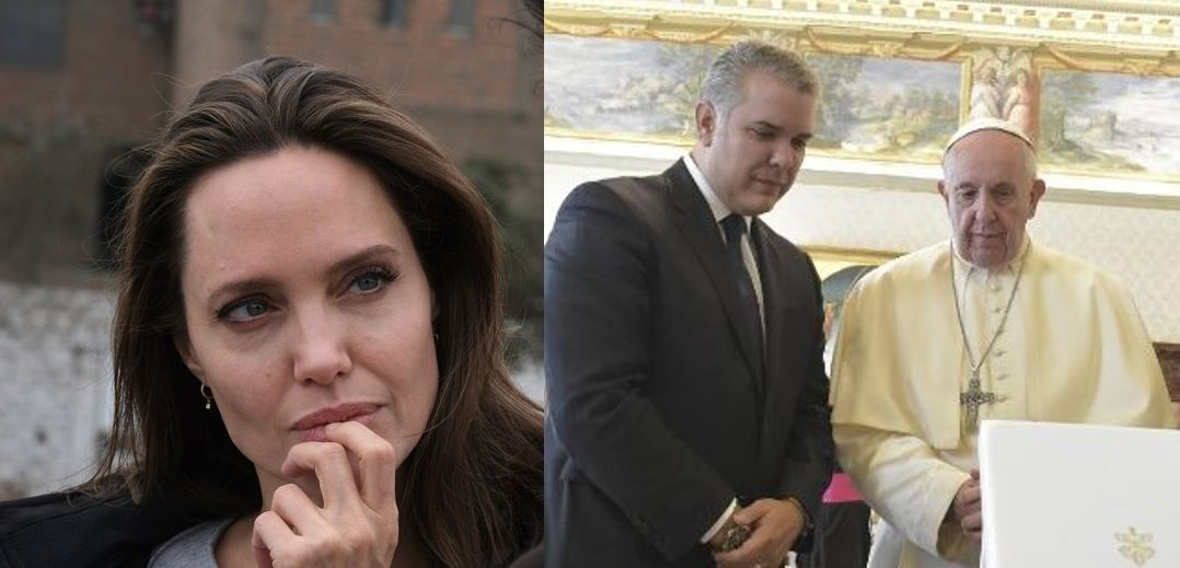 Angelina Jolie, Iván Duque y el Papa comparten la misma causa por el éxodo venezolano / Fotos: ONU y Vaticano