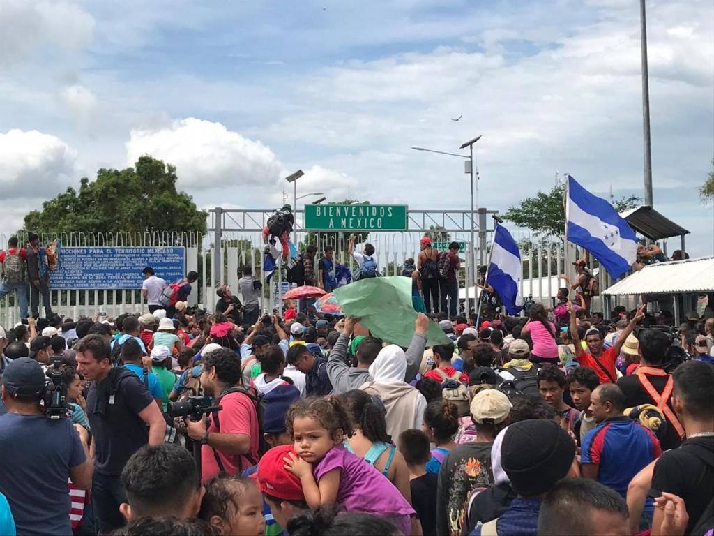 La caravana que atraviesa México tiene más de 7.000 personas / Foto: Save the Children