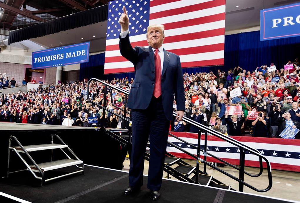 La retórica antiinmigrante de Trump moviliza su base de apoyo electoral / Foto: @realDonaldTrump